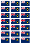 Western Australia Flag Stickers - 21 per sheet